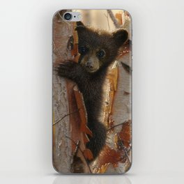 Black Bear Cub - Curious Cub II iPhone Skin