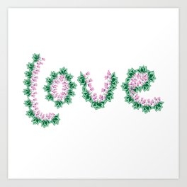 Cyclamen love Art Print