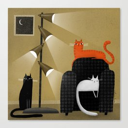 RETRO LAMP Canvas Print