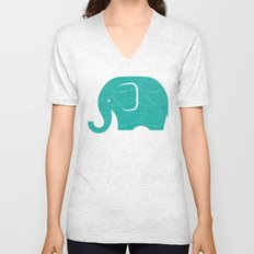 Fun at the Zoo: Elephant Unisex V-Neck