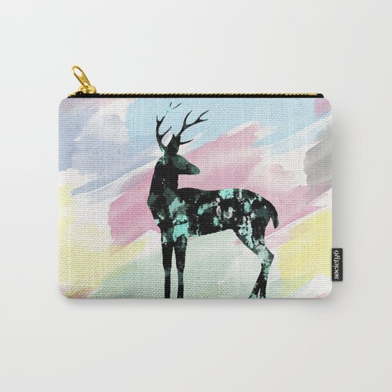 Abstract Deer Carry-All Pouch