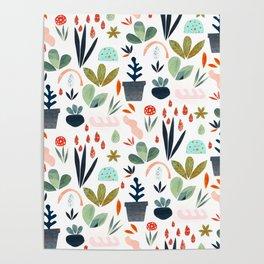miniature garden Poster