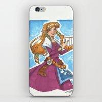 the legend of zelda iPhone & iPod Skins featuring Zelda by Nikki Abrego