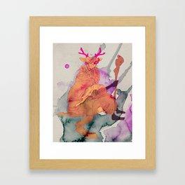 Humanimal deerpa Framed Art Print