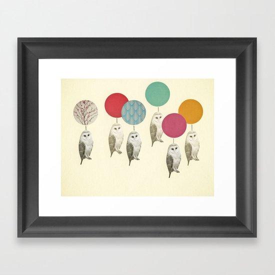 Balloon Landing Framed Art Print