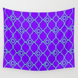Purple & Green Pattern 1 Wall Tapestry