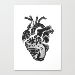 Heart (stay wild) Canvas Print