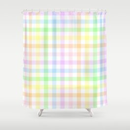 Rainbow Gingham Shower Curtain