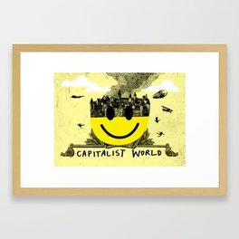 Capitalist World Framed Art Print