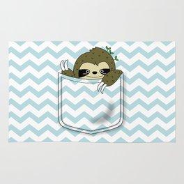 sloth in my pocket Rug