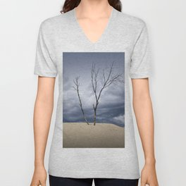 Wind Swept Clouds over the Dunes Unisex V-Neck