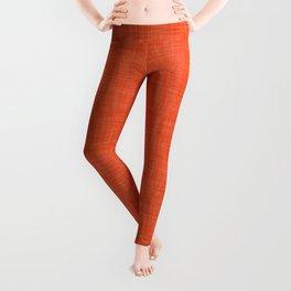 Plain orange fabric texture Leggings