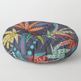 boho weed midnight Floor Pillow