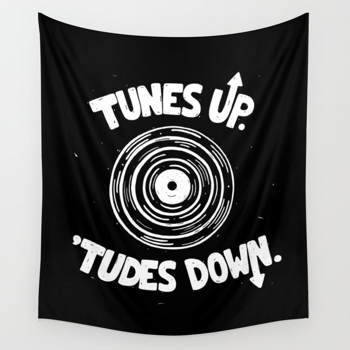 TUNES UP Wall Tapestry