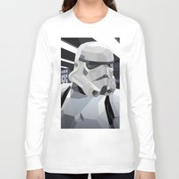 storm Long Sleeve T-shirts featuring Stormtrooper by Liam Brazier