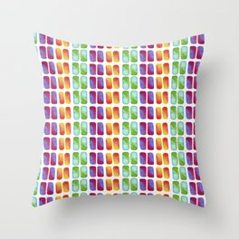 Color pops in Watercolor Throw Pillow