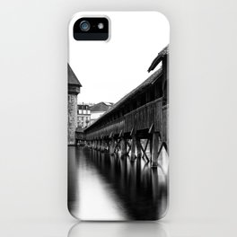 The Chapel Bridge Monochrome iPhone Case