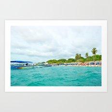 White beach Turquoise sea Art Print