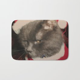 Santa Cat Bath Mat