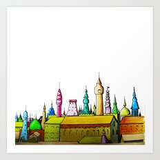 fabulous city painted Art Print