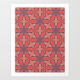 Summer Splash - Coral Art Print