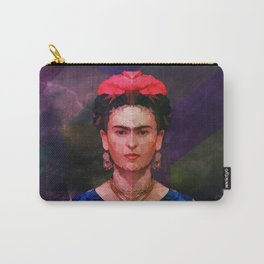 FRIDA KAHLO GEOMETRIC PORTRAIT Carry-All Pouch