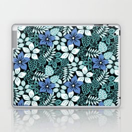 Tropical Floral Aqua Laptop & iPad Skin