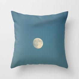 Moon in the sky Throw Pillow