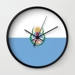 flag of mendoza Wall Clock