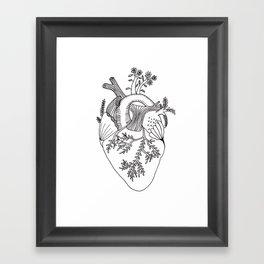 Growing heart Framed Art Print