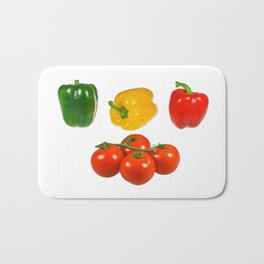 Vegetables with white background Bath Mat