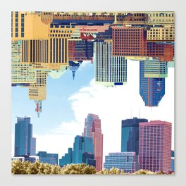 Twin Cities Minneapolis and Saint Paul Canvas Print