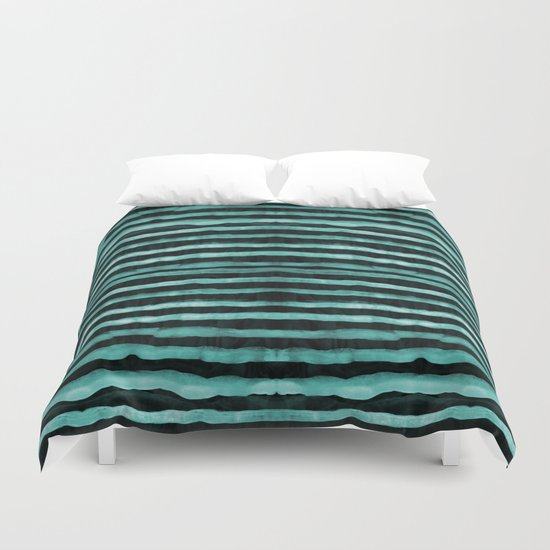 Neon stripes Duvet Cover