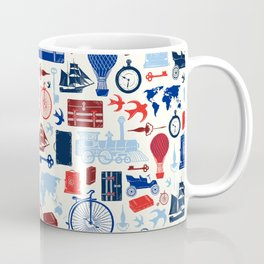 All Aboard to Explore Our Marvelous World - Vintage Travel from the Victorian Era Coffee Mug