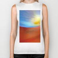 sunrise Biker Tanks featuring Sunrise by Rafael Salazar