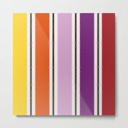Stripe Design Metal Print