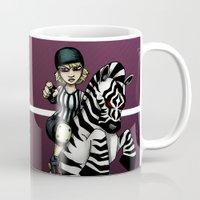 roller derby Mugs featuring Roller Derby Referee Zebra by RonkyTonk