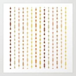 Multi-faceted decorative lines 13 Art Print