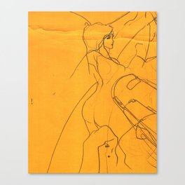 Biro line Girls Canvas Print