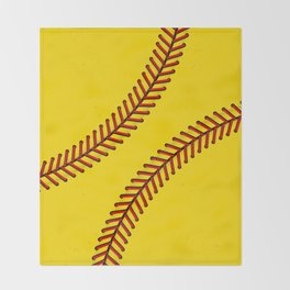 Fast Pitch Softball Throw Blanket