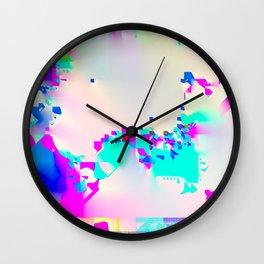 soft glitch Wall Clock