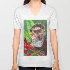 Mona Monkey Unisex V-Neck