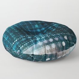 Online Security on the Internet as a Digital Concept Floor Pillow