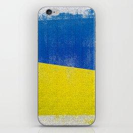 Ukrainian Distressed Halftone Denim Flag iPhone Skin