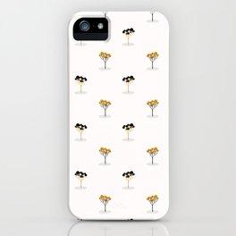 Stylized Single Tree Wood Repeating Seamless Pattern Orange iPhone Case