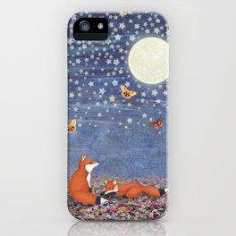 moonlit foxes iPhone Case