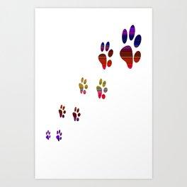 Paw Cat Art Print