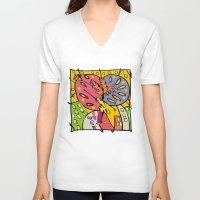 brasil V-neck T-shirts featuring Brasil by Ana Sanz Durán