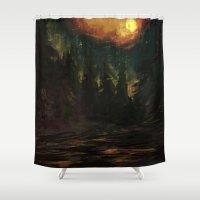 "skyrim Shower Curtains featuring ""Falkreath"" 2015 by Krovav"