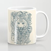 suits Mugs featuring Tiger Tangle by micklyn